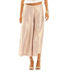 NWT Lilly Pulitzer Margo gold crop pant, XS